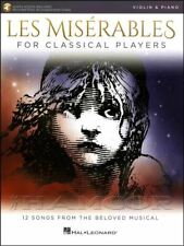 Les Miserables for Classical Players Violin Music Book/Audio/Piano Play Along