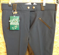 USG Softshell Damenreithose, Vollbesatz, schwarz , Gr. 84 (1000)