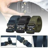 Tactical Belt Heavy-Duty Quick-Release Metal Buckle Military Style Army Training