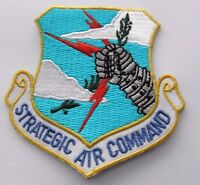 USA AIR FORCE STRATEGIC AIR COMMAND SHIELD EMBLEM PATCH 3 INCHES