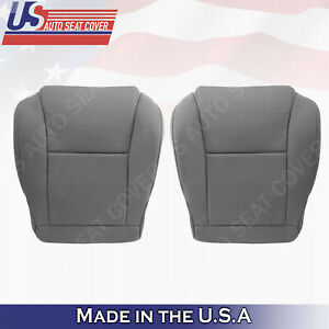 Driver & Passenger Bottom CLOTH Seat Cover GRAY For 2005 to 2008 Toyota Tacoma