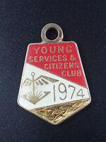 Vintage Young Services & Citizens Club 1974 - Pendant / Badge