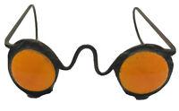 60s Metal Eye Glasses Sculpture STAINED GLASS ART Shelf Decor Optometrist Gift