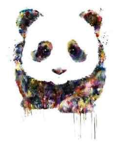 rainbowcute panda  iron on t shirt transfer A5