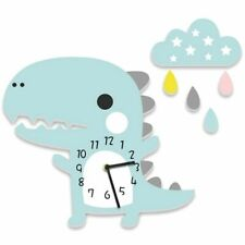 Cute Dinosaur Wall Clock Kids Room Hanging Decoration Bedroom Silent Quiet Sweep