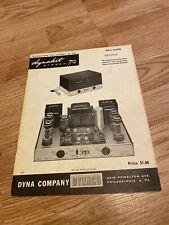 dynakit 70 Stereo Amplifier instructions assembly manual Original