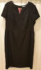 BRAND NEW ORG $208 BODEN BLACK WOOL TULIP DRESS WQ066 - SIZE US 18L