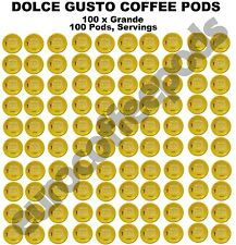 100 x Dolce Gusto Grande Coffee Pods, Capsules, 100 Drinks Sold Loose