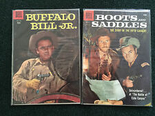 Lot of 2 Four Color Comics- Buffalo Bill Jr. #742 & Boots and Saddles #919 VF/NM