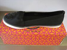 BRAND NEW TORY BURCH  SLIP ON CANVAS SNEAKER BLACK SIZE 8.5