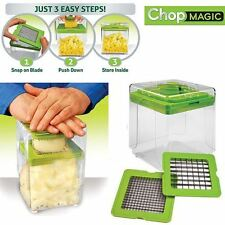 Chop Magic Vegetable Salad Fruit Cutter Chopper Dicer Slicer Container Tool