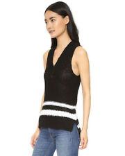 Rag and Bone Dina Halter Top Vest Black White stripes XS NWT