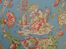 "Marvic Textiles ""CATHAY TOILE"" Fabric 5.5+ yards Retail $874 Chinoiserie"