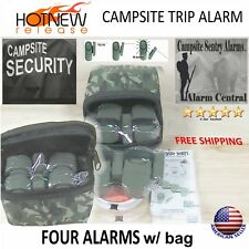 (4) Camp Alarms w/Camo zipper bag Military style trip alarms-100yds trip line