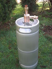 "Thumper Doubler with new 5 gallon Beer Keg for Moonshine Still 2"" x 3/4"" Copper"