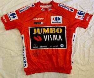 Primoz Roglic signed 2019 Vuelta a Espana cycling jersey Team Jumbo Visma