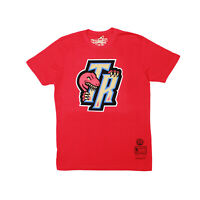Mitchell Ness Toronto Raptors NBA Mens Gold Bite Graphic Tee Red