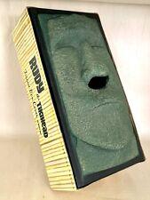 Tiki Head Tissue Box Cover Retro 1951 Rudy the Tikihead Black W/Green Faux Stone