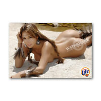 A • 1037 # Locker Fridge Magnet Sexy Cute Beer Native Girl Decor Mini Poster