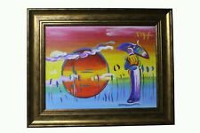 Fine Acrylic painting signed Peter Max