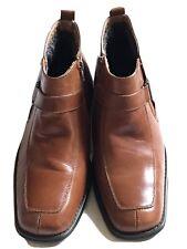 Men's LA Milano Brown Ankle Zip-up Boots Size 7