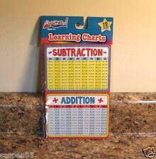 Math Adding Subtracting Learning Charts Sticker Set Teacher Resource New