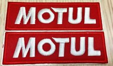 """Lot of 2 Motul Patch Embroidered with Adhesive Backing 1.38"""" x 4.43""""   US Seller"""