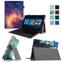 For Microsoft Surface Pro 2017/Surface Pro 4 3 Case PU Leather Folio Stand Cover