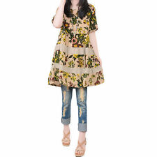 Unbranded Linen Floral Dresses for Women