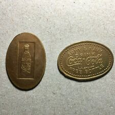 PAIR 2 DRINK COCA COLA gold token coin 75 ANNIVERSARY 1901-1976 LOUISVILLE KY