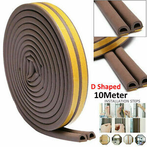 Draught Draft Excluder Self Adhesive Rubber Door Window Seal Strip Roll Tape 10M