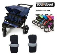 Out n About Double Nipper 360 V4/2 Universal Footmuffs/Raincover - Royal Navy