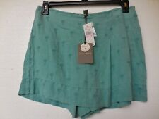 Tommy Bahama Palm Tree Embroidered Shorts Skort Bristol Blue Size 14 NWT $98