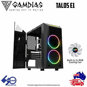 Gaming PC Case Gamdias Talos E1 Tempered Glass with 2 ARGB Fan Micro-ATX Tower