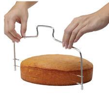 Edelstahl Tortenschneider Kuchen Torten Boden teiler Cutter Einstellbare Draht