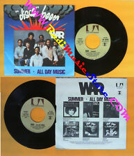 LP 45 7''WAR Summer All day music 1976 italy UNITED ARTISTS 36154 no cd mc dvd*