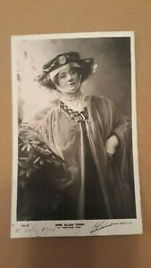 MISS ELLEN TERRY ( ACTRESS ) REAL PHOTO POSTCARD POSTED C.1905