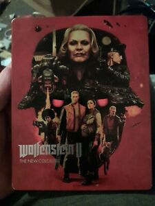 Wolfenstein 2 The New Colossus Xbox One Metal Tin Edition Rarer Cover  VGC NM