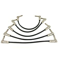 Pro Right Angle Guitar Patch Leads Effects Cable 1/4 Inch Pack of 5