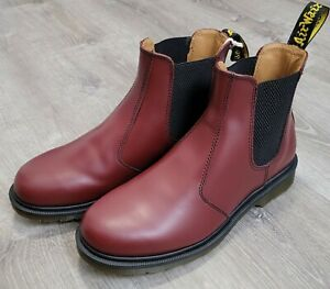 Dr. Martens 2976 Smooth Chelsea Cherry Red Leather Boots Men's Size 10 - New