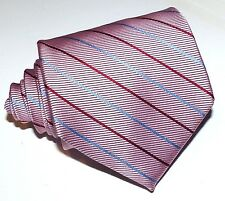 Brooks Brothers Mens pink striped  necktie,Woven in ITALY recent Silk Tie