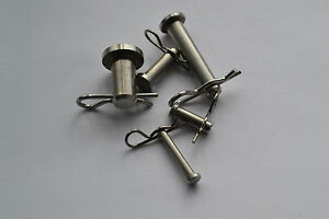 """Stainless Steel clevis pin 316 marine grade c/w r clip 3/16"""" 1/4"""" 5/16"""" 3/8"""" 1/2"""