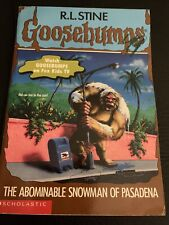 The Abominable Snowman of Pasadena Goosebumps No 38 Vintage Book