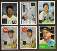1996 TOPPS BOWMAN MICKEY MANTLE #7 YANKEES FINEST REFRACTOR REPRINT 10 CARD LOT