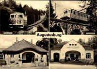 AUGUSTUSBURG Sachsen DDR Postkarte ua. Drahtseil-Bahn und Station Erdmannsdorf