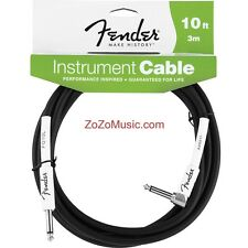 FENDER PERFORMANCE 10-FT RIGHT ANGLE GUITAR & BASS CABLE CORD 099-0820-006 FG10L