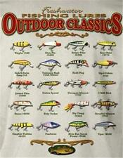 20 VINTAGE ANTIQUE FISHING LURES T-Shirt heddon rebel Size Medium LAST ONES!