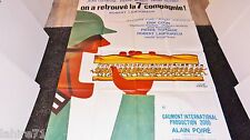 ON A RETROUVE LA 7ème COMPAGNIE ! affiche cinema bidasse  rare herve morvan 1975