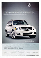 2008 Mercedes Benz GLK350 2009  - Classic Car Advertisement Print Ad J74