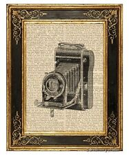 Vest Pocket Folding Camera #1 Art Print on Vintage Book Page Home Office Decor